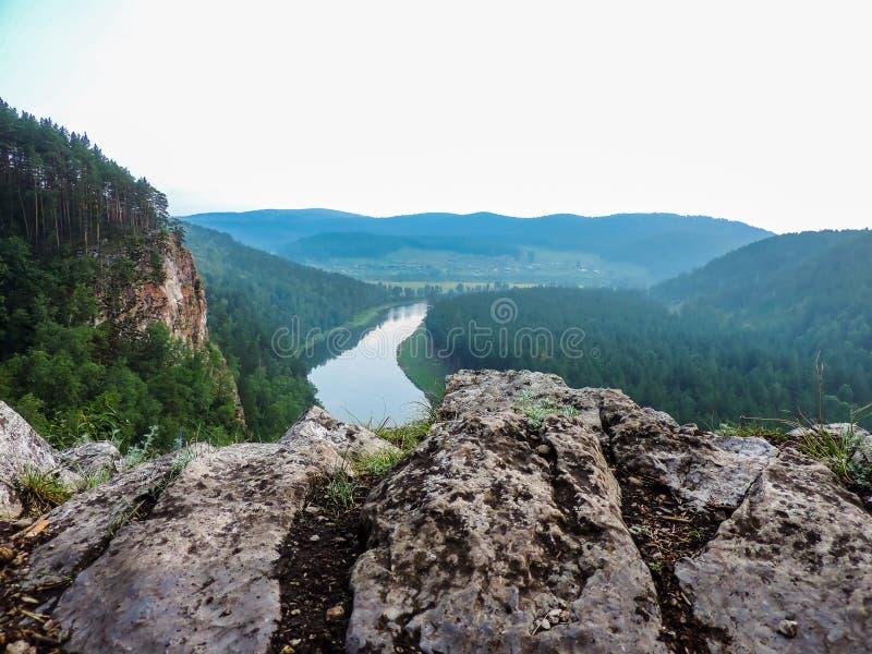 Vallée de la rivière AI images stock