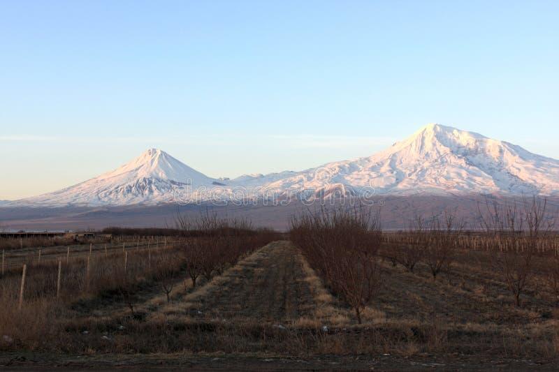 vallée de lever de soleil d'ararat photographie stock