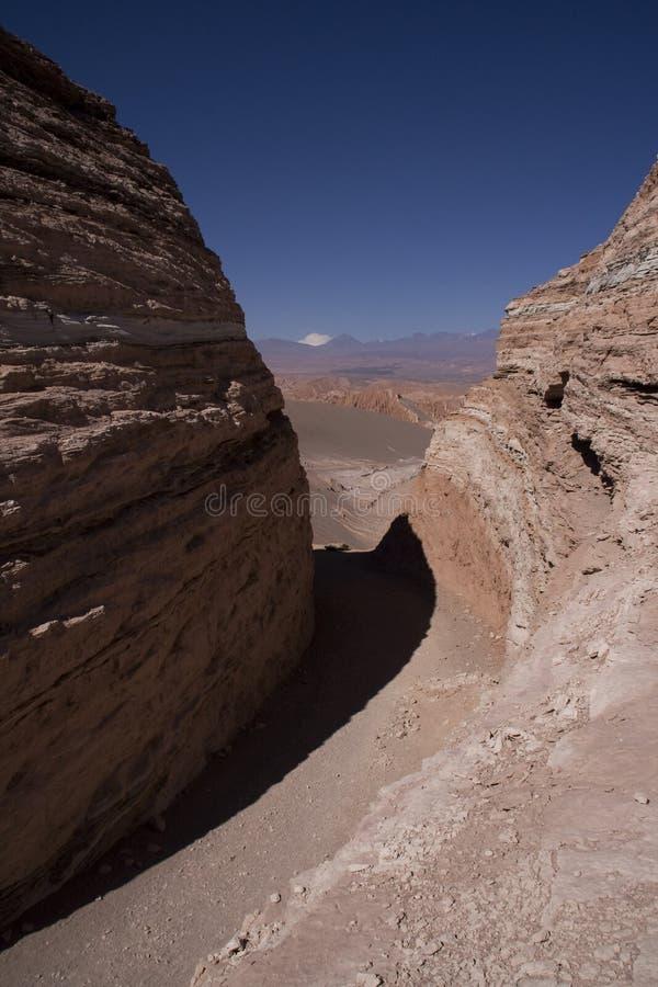 Vallée de lune, Chili photographie stock