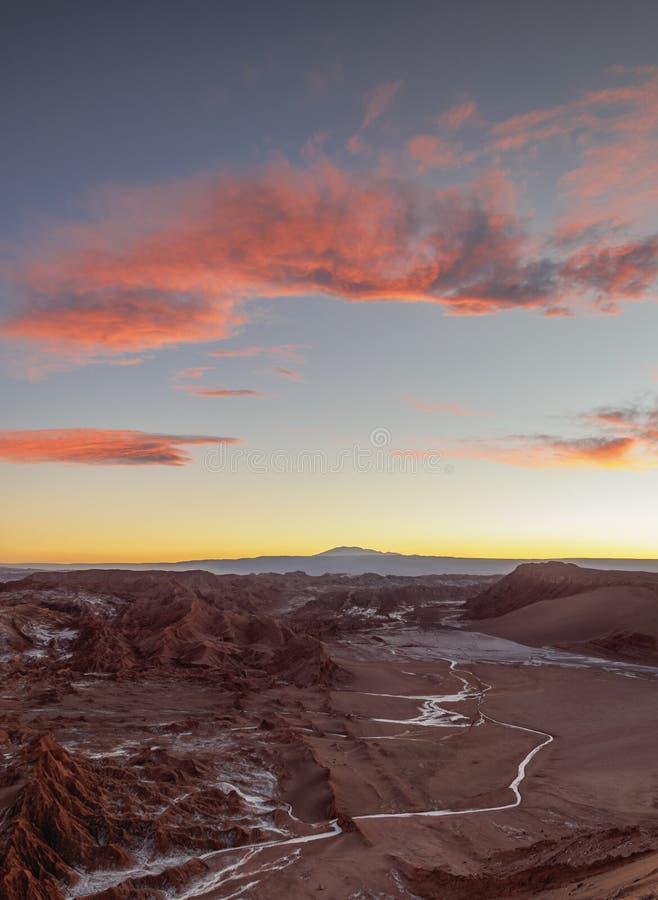 Vallée de lune, désert d'Atacama au Chili photo libre de droits