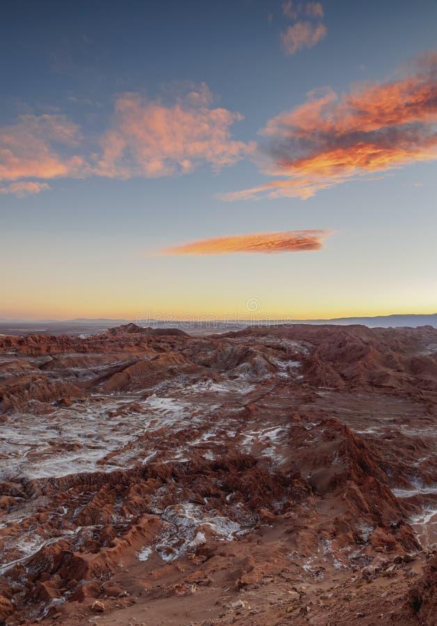 Vallée de lune, désert d'Atacama au Chili photographie stock