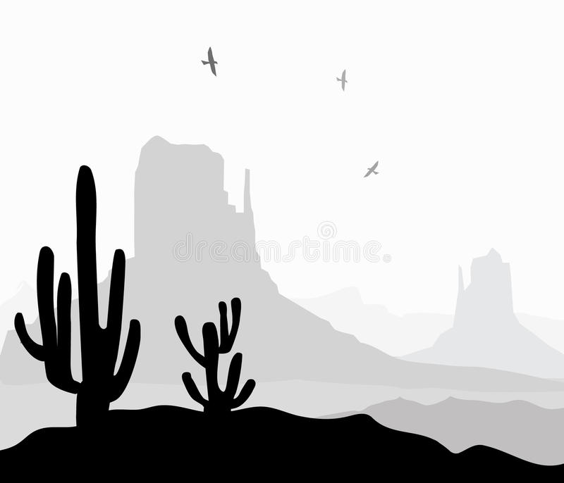 Vallée de monument (Arizona) - vecteur illustration stock
