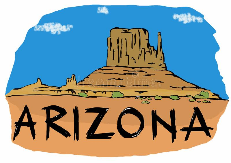 Vallée de monument de l'Arizona illustration stock