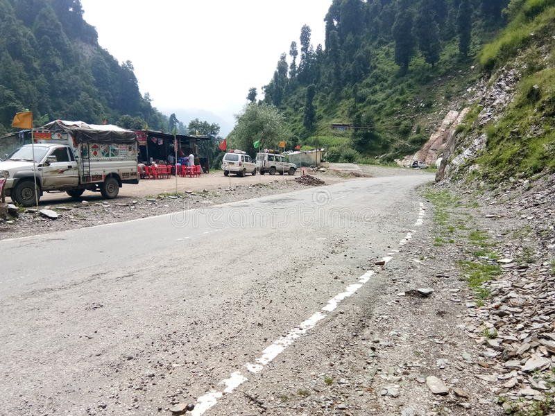 Vallée de Mughal Route-Cachemire image stock