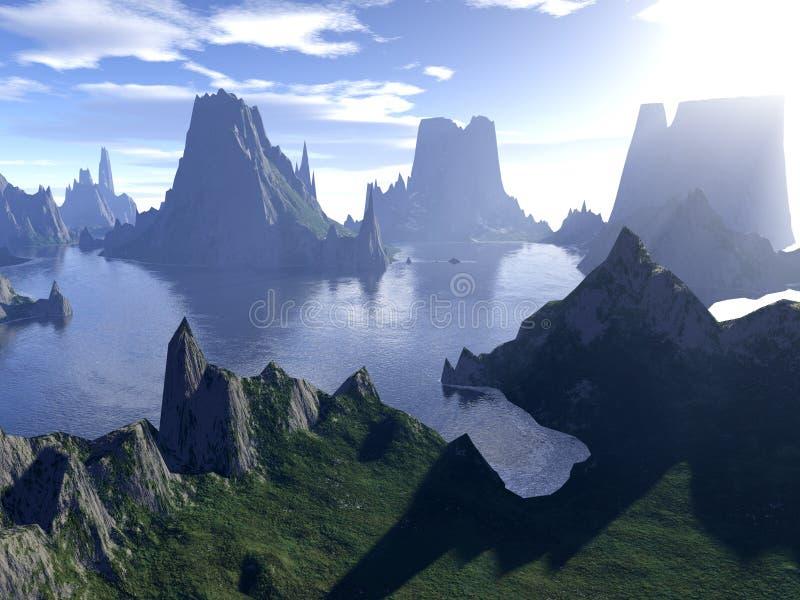 Vallée de paradis illustration libre de droits