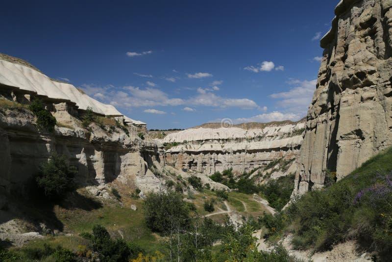 Vallée de pigeons dans Cappadocia photographie stock