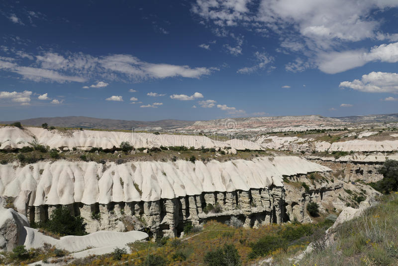 Vallée de pigeons dans Cappadocia images stock