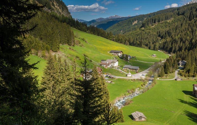 Vallée de Racines au Tyrol du sud, Italie images stock