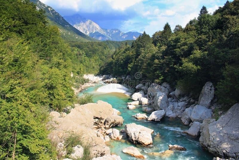 Vallée de Soca - parc national Triglav, Slovénie photographie stock libre de droits