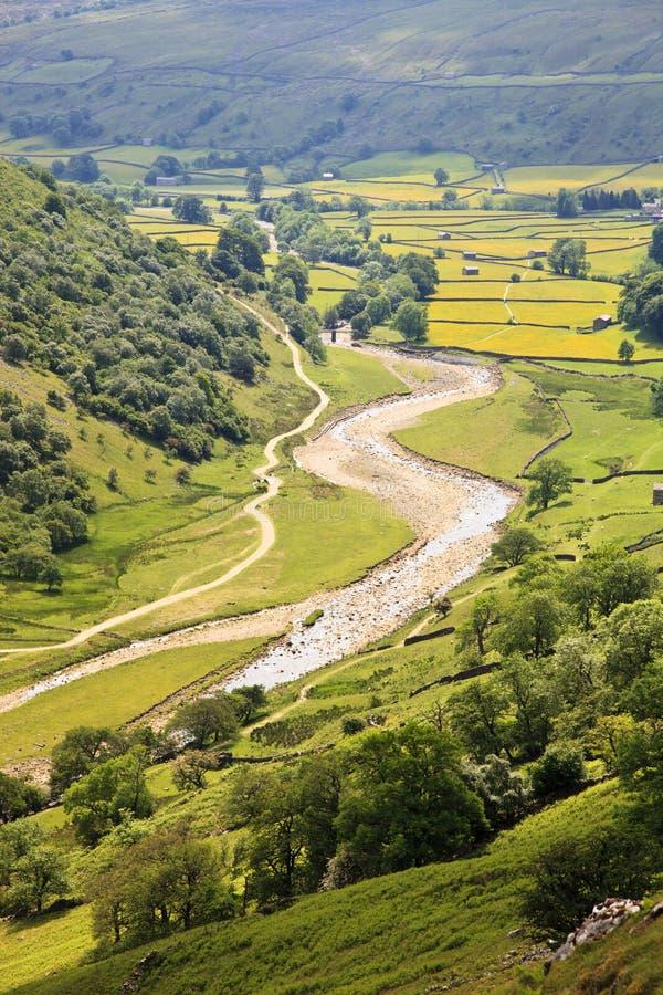 Vallée de Swale de fleuve photos stock