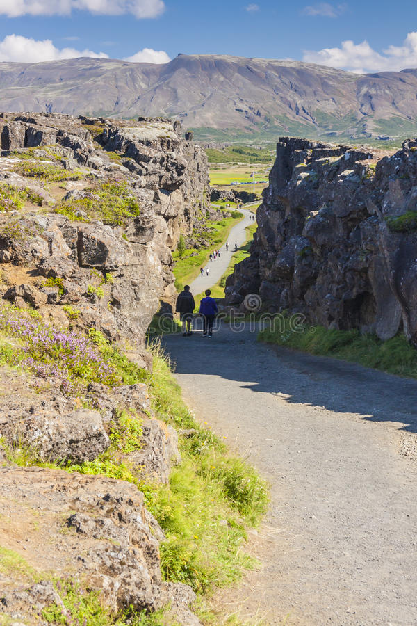 Vallée de Thingvellir - Islande. photographie stock libre de droits