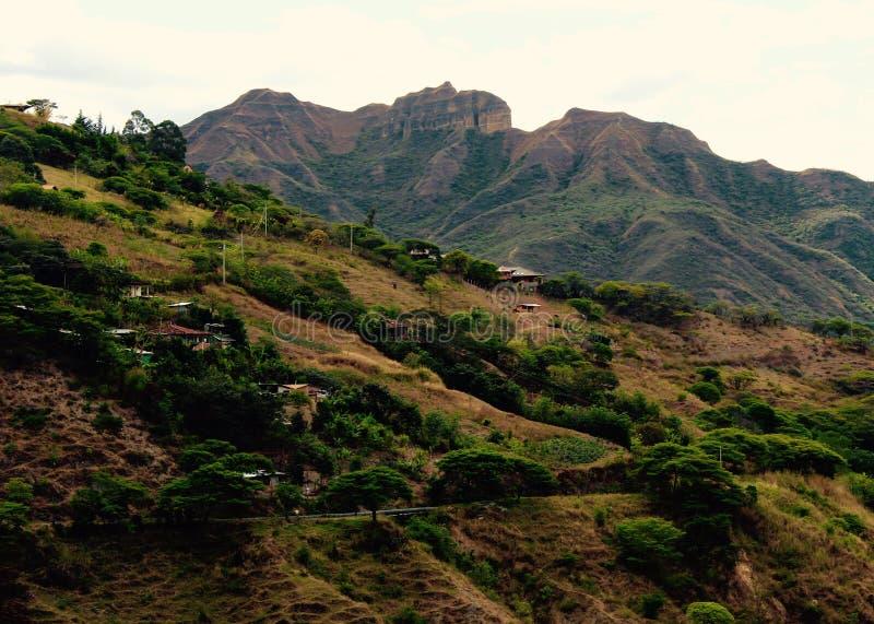 Vallée de Vilcabamba avec Mandango dans le contexte photo libre de droits