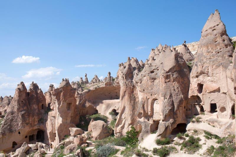 Vallée de Zelve, Cappadocia, Anatolie central, Turquie image libre de droits