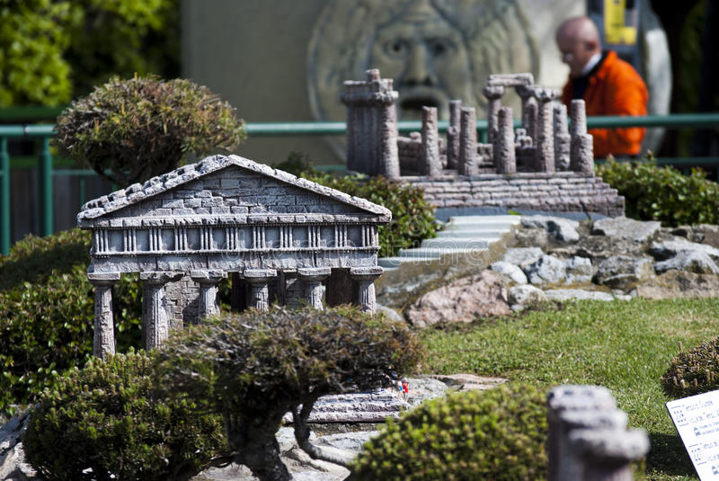 Vallée des temples en mini stationnement de l'Italie photo stock