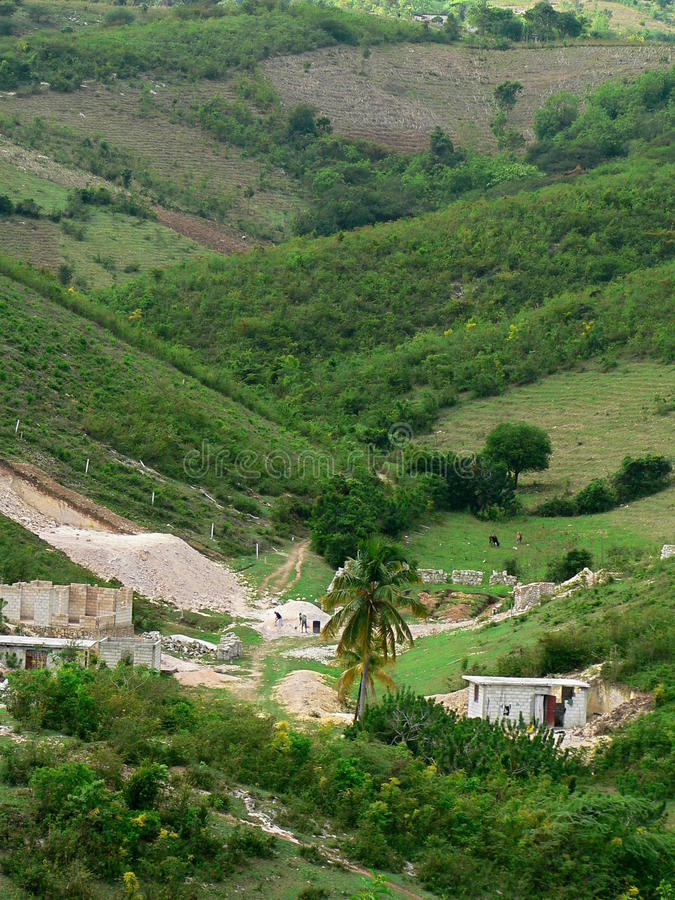 Vallée du Haïti photographie stock libre de droits