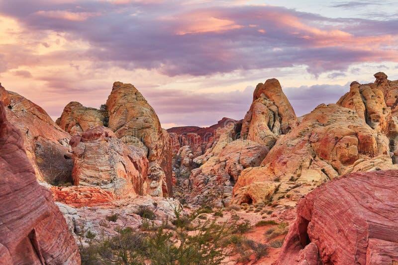 Vallée du parc national du feu, Nevada, Etats-Unis images libres de droits