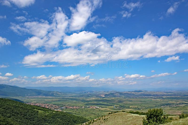 Vallée en Bulgarie photographie stock