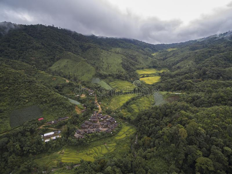 Vallée en Chiang Mai, Thaïlande image libre de droits