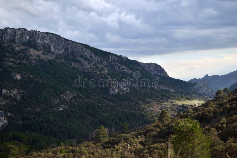 Vallée en sierra De Cazorla images stock