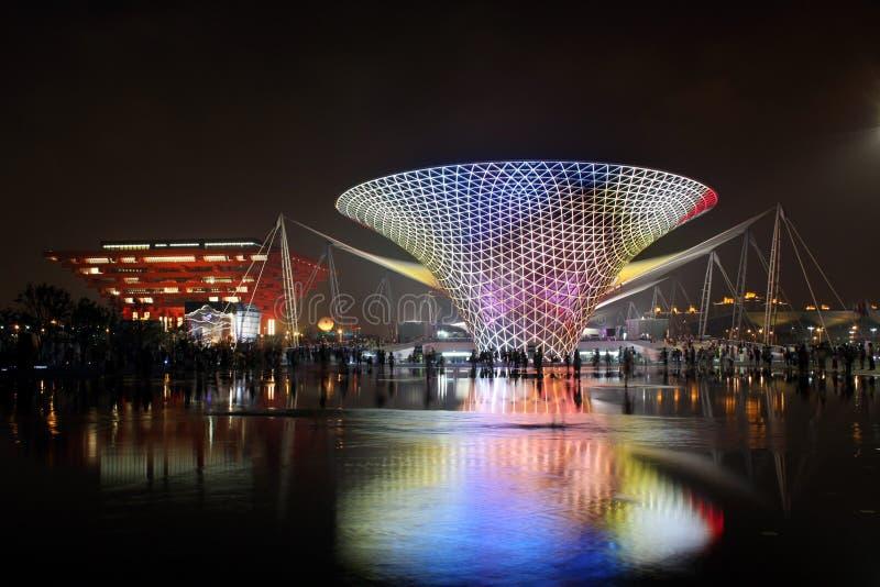 Vallée ensoleillée de boulevard d'expo du monde de Changhaï photographie stock libre de droits