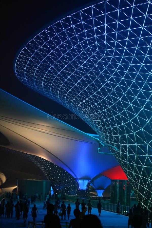 Vallée ensoleillée de boulevard d'expo du monde de Changhaï images stock