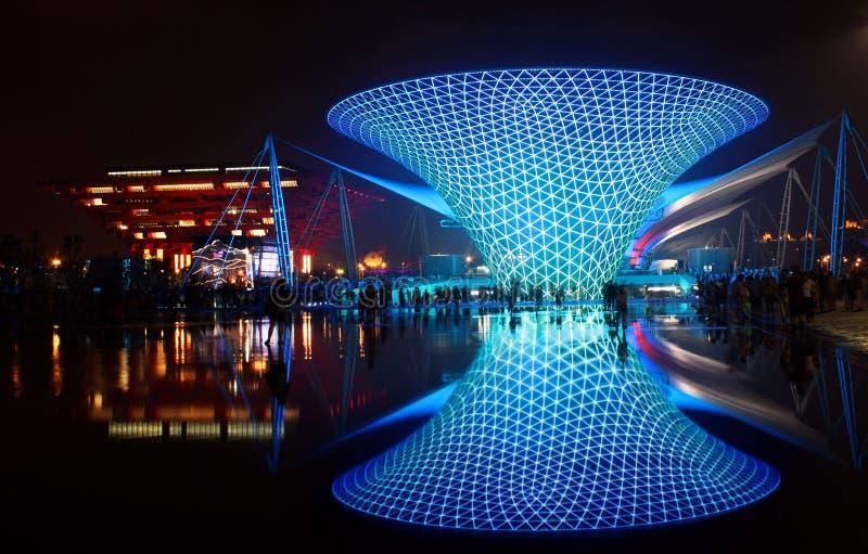 Vallée ensoleillée de boulevard d'expo du monde de Changhaï image libre de droits