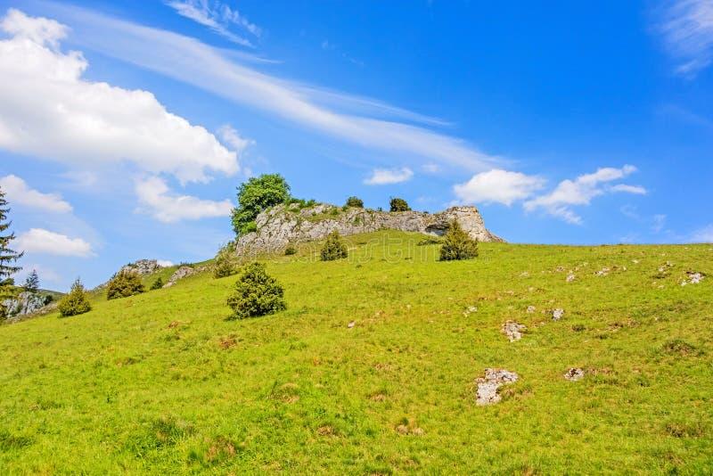 Vallée Eselsburger Tal - roches impressionnantes photo libre de droits