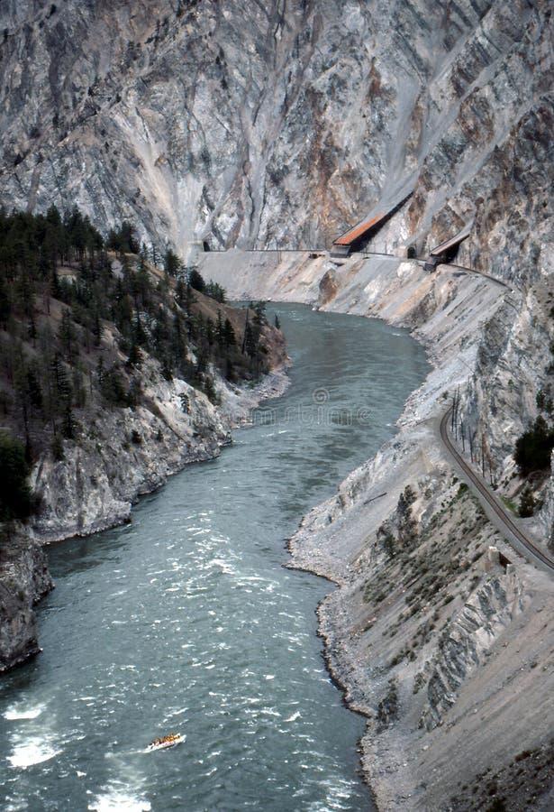 Vallée et fleuve de Fraser image stock