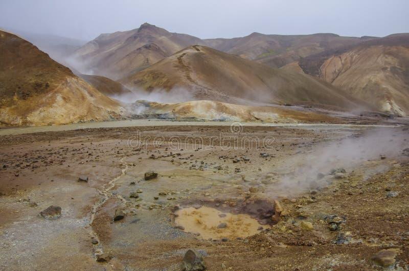 Vallée géothermique Kerlingarfjoll, Islande photos stock