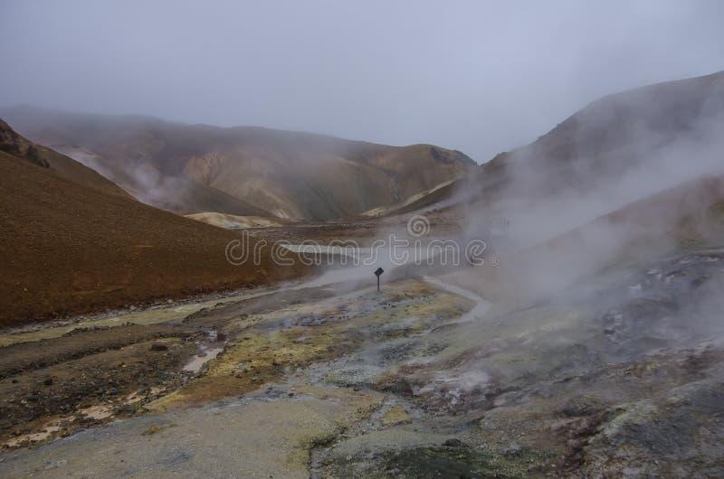 Vallée géothermique Kerlingarfjoll, Islande photographie stock libre de droits