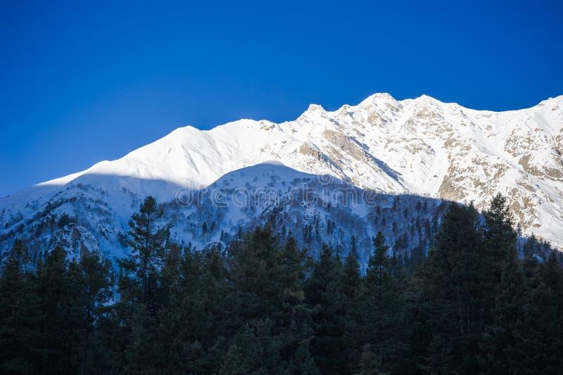 Vallée idyllique de montagne image libre de droits