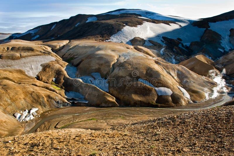 Vallée Kerlingarfjoll Islande images libres de droits