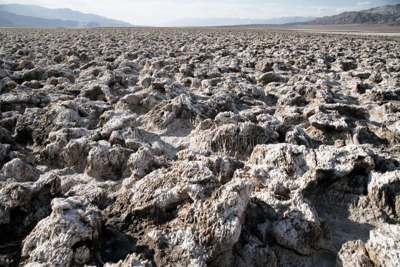 vallée plate de sel de stationnement national de la mort images libres de droits