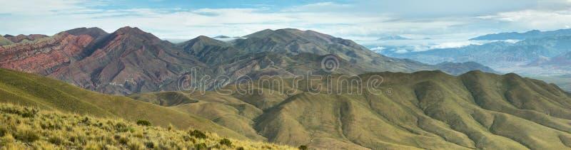 Vallée près de l'endroit connu sous le nom de Serrania del Hornocal images stock