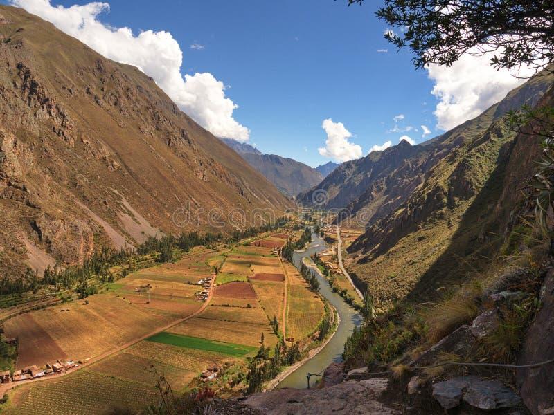 vallée sacrée du Pérou Entre Urubamba et Ollantaytambo photo stock