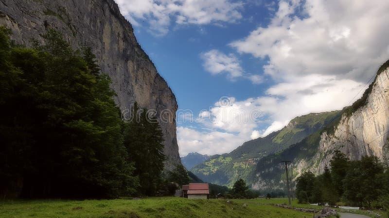 Vallée Suisse de Lauterbrunnen photographie stock
