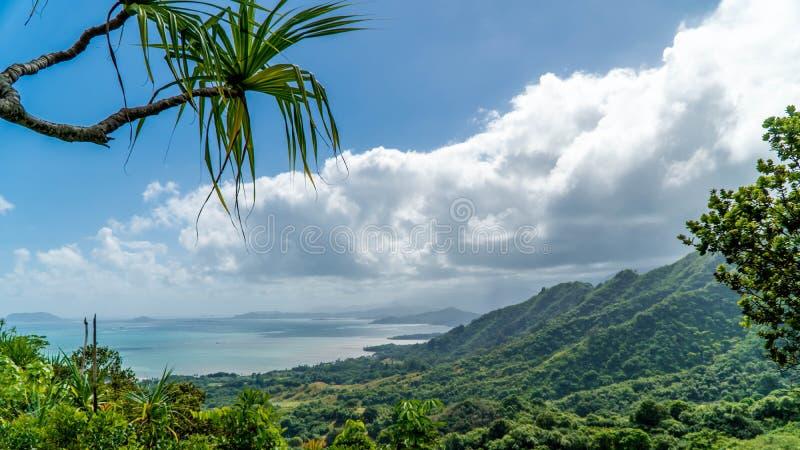 Vallée tropicale de Kaaawa images libres de droits