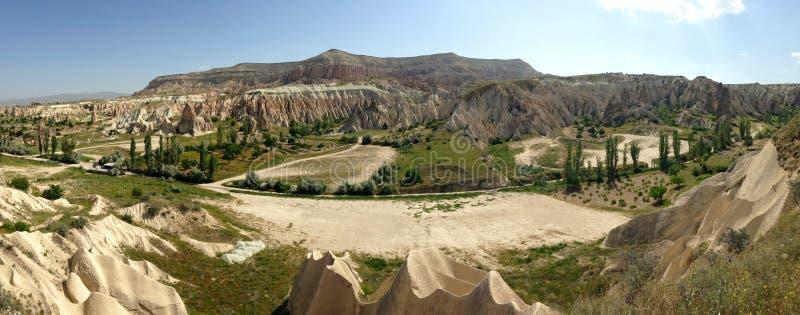 Vallées en pierre de Cappadocia image stock