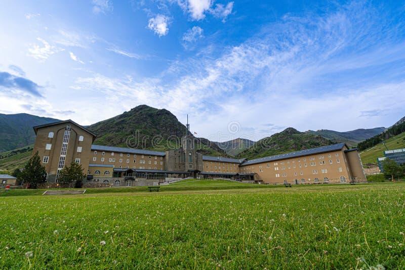 Vall de Nuria en los Pirineos catalanes, Espa?a imagen de archivo