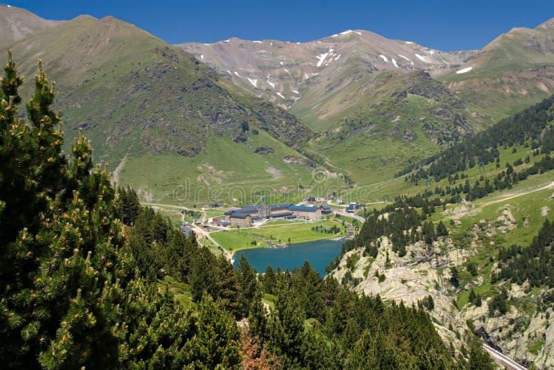 Vall de Nuria Sanctuary, pyrenees, Spain stock photos
