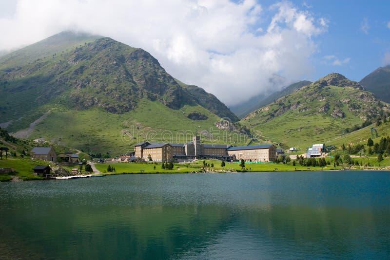 Vall de Nuria Sanctuary Pyrenees, Spain stock images