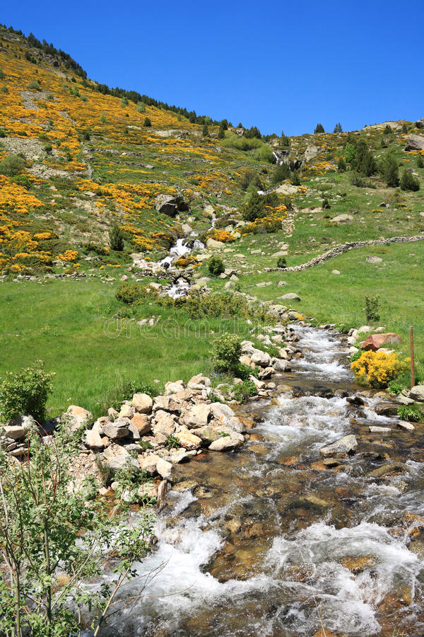 vall de pièces de l'Andorre d photographie stock