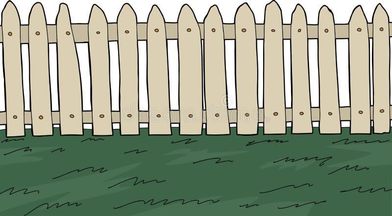 Valla de estacas sobre blanco stock de ilustración