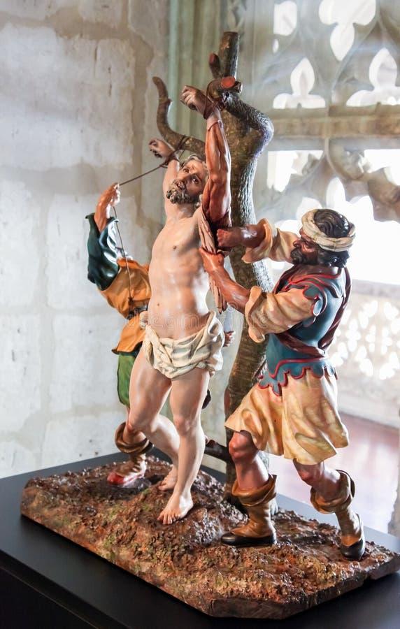 Valladolid - flagellation de Jesus Christ sur le Vendredi Saint photographie stock