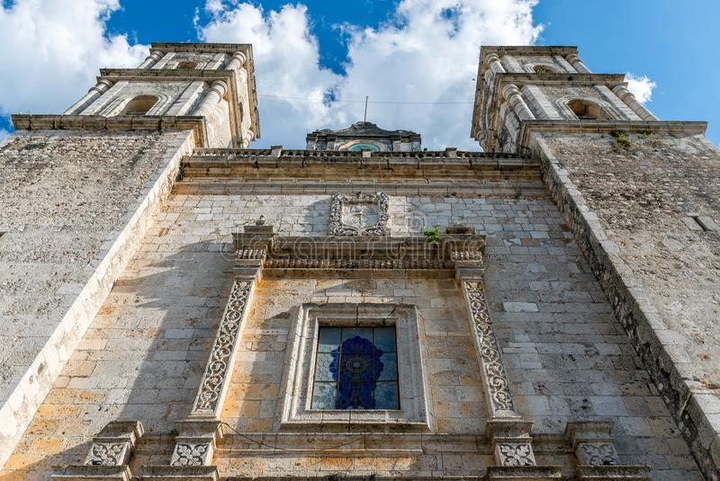 Cathedral of San Gervasio in Valladolid, Mexico stock photos