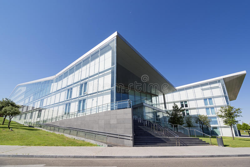 Valladolid. SPAIN - JULY 10, 2015: The Miguel Delibes Cultural Center was designed by architect Ricardo Bofill Levi and opened in March 2007 with a concert of stock photo