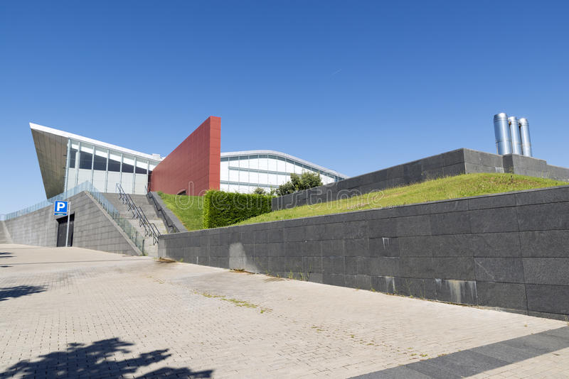 Valladolid. SPAIN - JULY 10, 2015: The Miguel Delibes Cultural Center was designed by architect Ricardo Bofill Levi and opened in March 2007 with a concert of stock photography