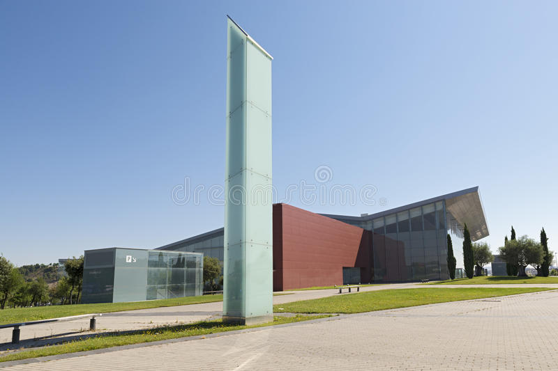 Valladolid. SPAIN - JULY 10, 2015: The Miguel Delibes Cultural Center was designed by architect Ricardo Bofill Levi and opened in March 2007 with a concert of stock images