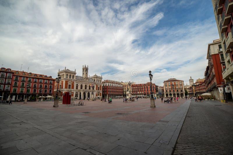 Valladolid stadshus royaltyfria foton