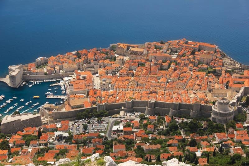 Vallar och citadell dubrovnik croatia royaltyfri fotografi